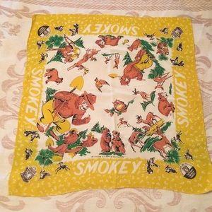 Accessories - Vintage Smokey The Bear Bandana/Scarf